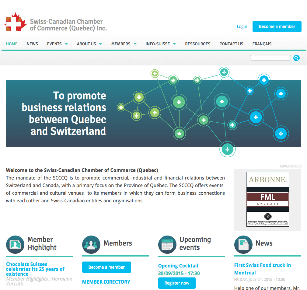 Swiss canadian chamber of commerce d7one for Canadian chambre of commerce